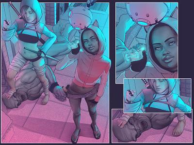 bounty hunters scifi characters comics pop art girlpower girl ilustração illustration