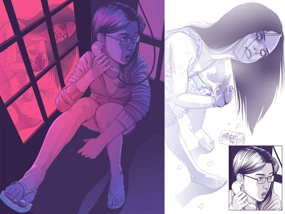 Halloween... vector vectorart terror halloween comics girl ilustração illustration