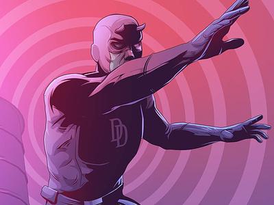 Daredevil vectorart vector hero superhero action fanart marvel comics marvel marvelcomics daredevil ilustração illustration