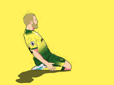 Pukki sport norwich soccer illustration footballer football design
