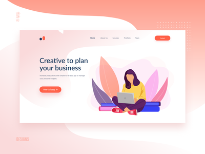 Web UI Design Concept for Business creative webdesign web adobe illustrator adobe photoshop adobexd illustration art illustraion illustrator uiux branding ui ux ui design uidesign adobe xd adobe illustration design website