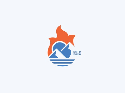 four elements symbol clean simple minimal sunny nature logo mountain logo fire earth air water