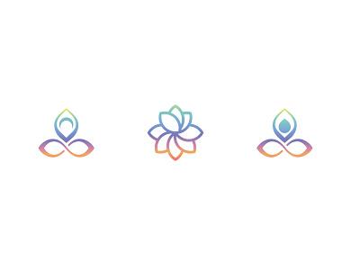Meditation symbol lotus flower lotus logo symbol mind mindfulness calming meditation app meditation