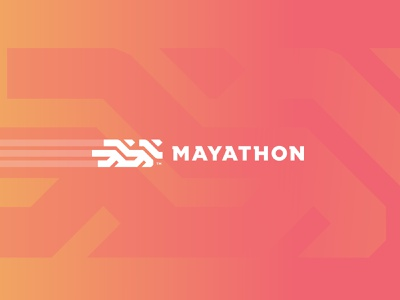 Mayathon Logo simple clean minimal typography competition running man runner running marathon