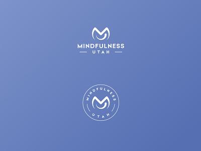 M+U monogram emblem emblem logo clean minimal smiley face smile typography utah mindfulness mu monogram