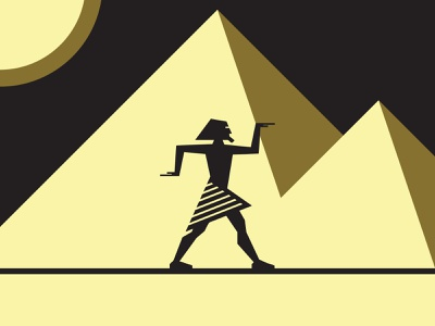 Egypt - Pyramid egyptean man geometric shape moonlight gold clean simple minimal mythology mystic alchemist alchemy pyramids pyramid egyptian egypt