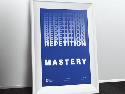 Principle of Design - Repetition 2 principle of design ready to print successful masters repetition clean simple minimal typography poster poster design poster art