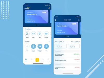 Mandiri Mobile Banking uidesign design ux branding ui app ui  ux uiux mobile ui