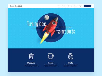 Lean Start Lab Web Redesign layout website design website interface