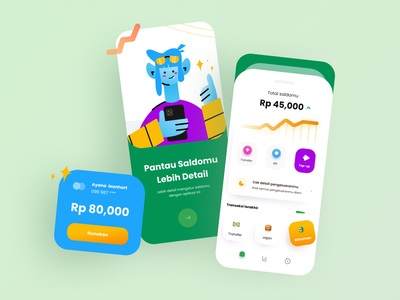 Ewallet - wallet app illustration android application design app iphone app android app ui mobile app ux design