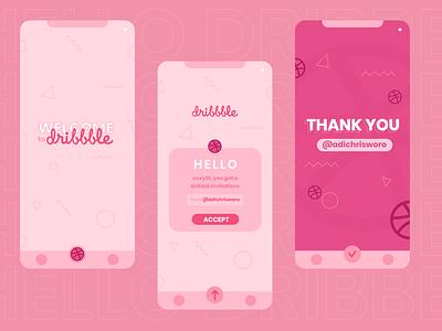 HELLO DRIBBBLE! iphone app android app design app hellodribbble debut flatdesign design ux ui illustration