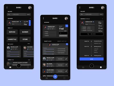 barbershop online booking apps haircut barbershop complexity app iphone app branding ux ui design app design android app