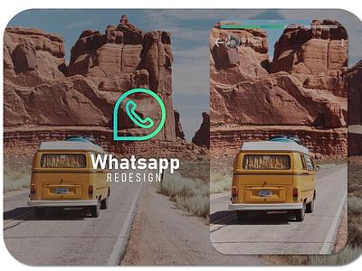 redesign whatsapp illustrator flat minimal website icon typography logo illustration design app branding