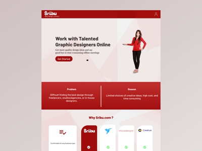 Sribu.com Landing Page website web ui ux illustrator logo illustration design branding app