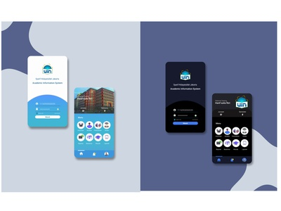 REDESIGN mobile app AIS UIN JKT website ui ux typography illustrator icon logo illustration design branding app