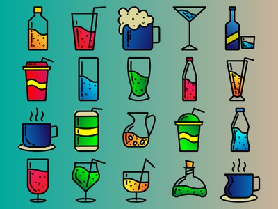 drink icon with color