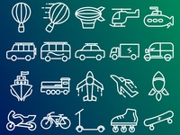 transport icon with outline style