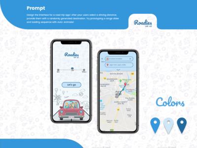 Road Trip App UI