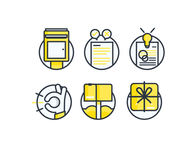 Icon Set 2 package box mailbox ideas concept approval ok mail icon