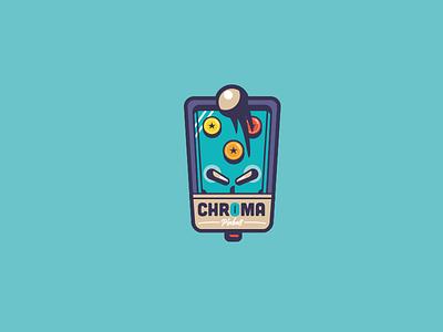 Pinball retro color chroma pinball machine logo