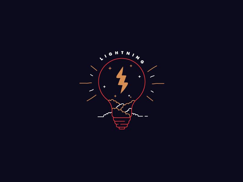 L&T gold black illustration lightbulb lightning
