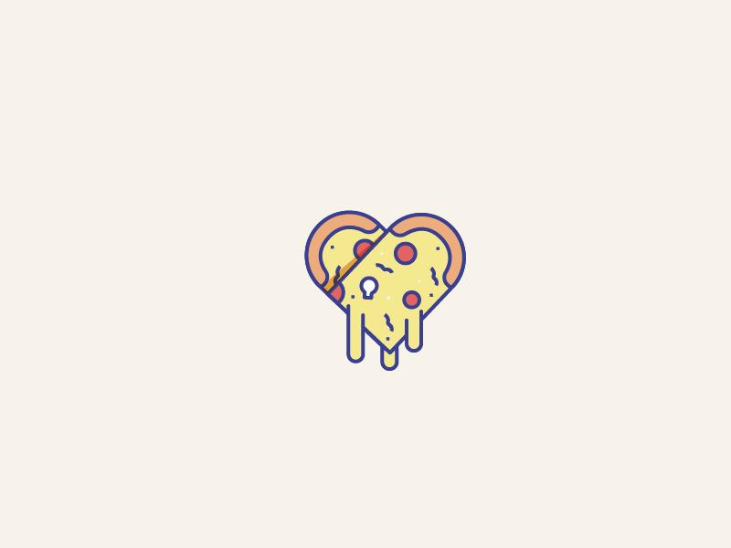 Happy Pizza icon vector life love pizza