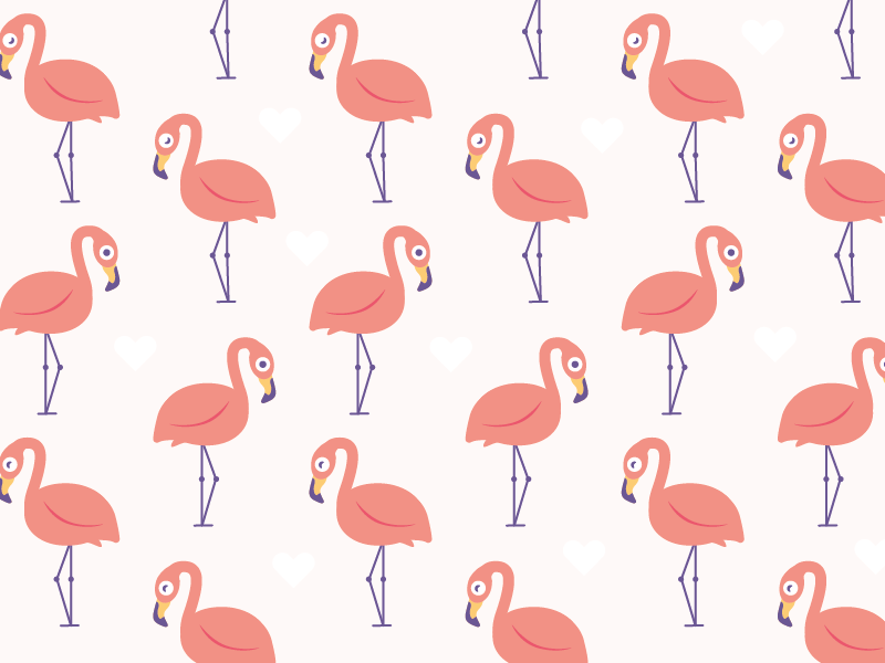 Flamingo-Pattern love pink vector illustration pattern flamingo