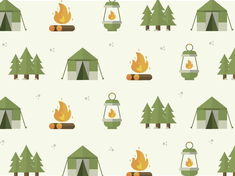 Camping Pattern icon illustration pattern camping