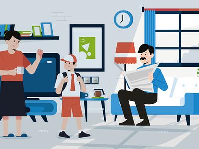 Morning family visilink website design illustration morning