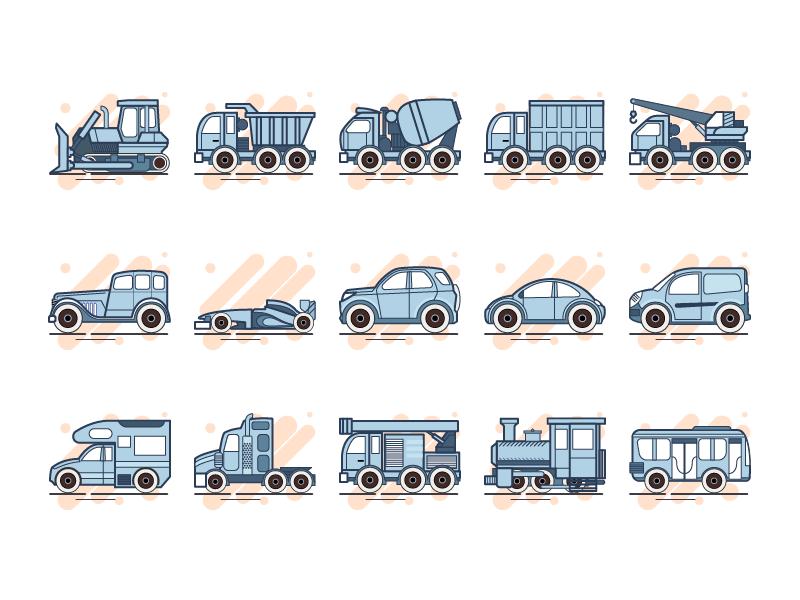 Icons vehicle transport car icon
