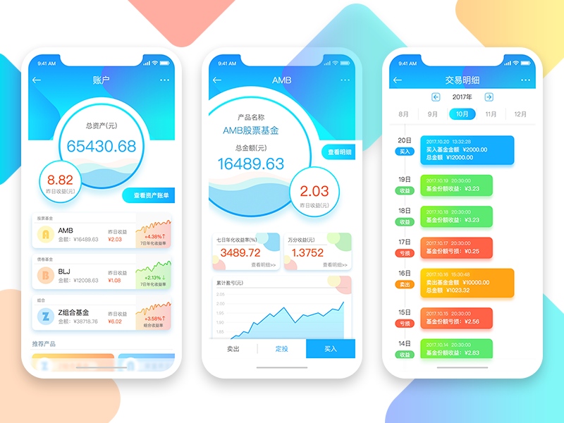 Financial products App financial products app ux ui