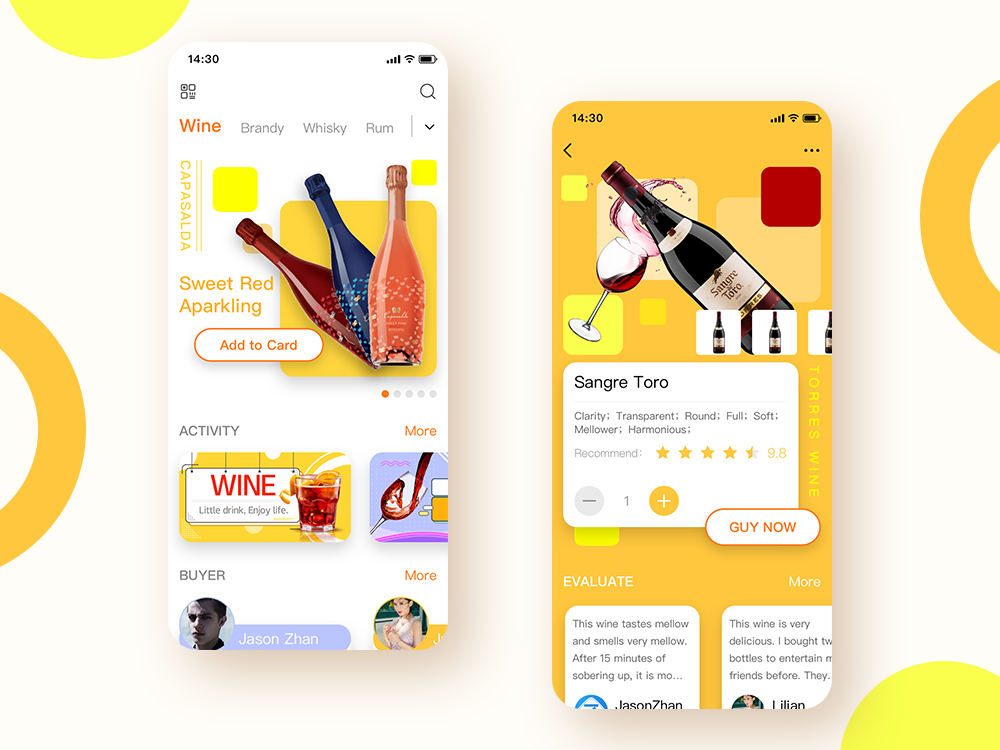 Mall app for wine shopping wine mall ux ui