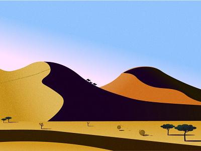 Desert illustraion sand desert