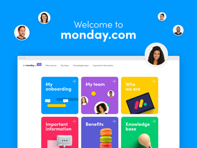 monday.com Onboarding Website welcome new joiners team onboarding company web ux ui design