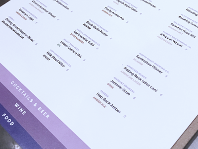 Food and Drink Menu System