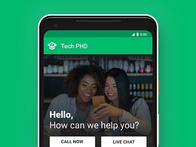 Tech PHD mobile app design product design ux ui