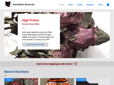 Steadfast Records Website 2.0