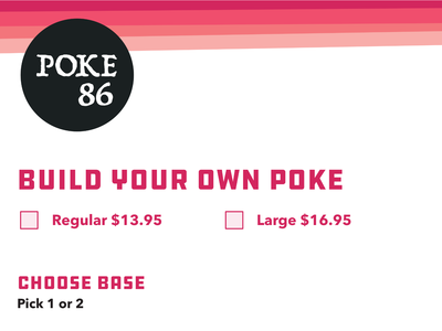 Poke 86 Build Your Poke Menu