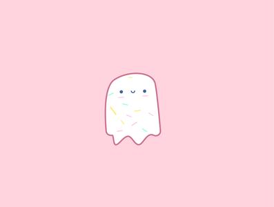 Cute sprinkles ghost