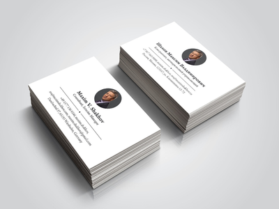 Shakhov businesses card