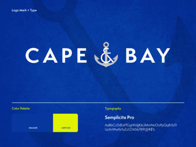 Cape & Bay Rebrand + Elements