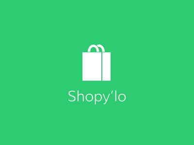 Shopy'lo logo shop ecologic green bag white icon