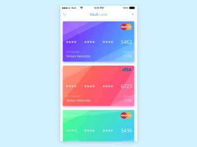 Vault card payment mobile vault card sketch colorful design