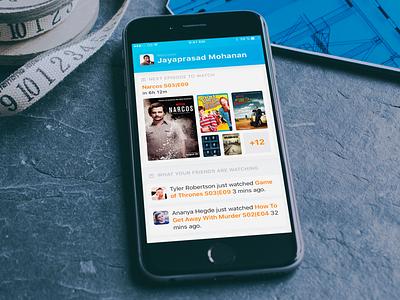 Social TV Show Tracker tracker season episode news feed friends app ios tv shows