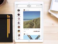 Instagram for iPad Concept