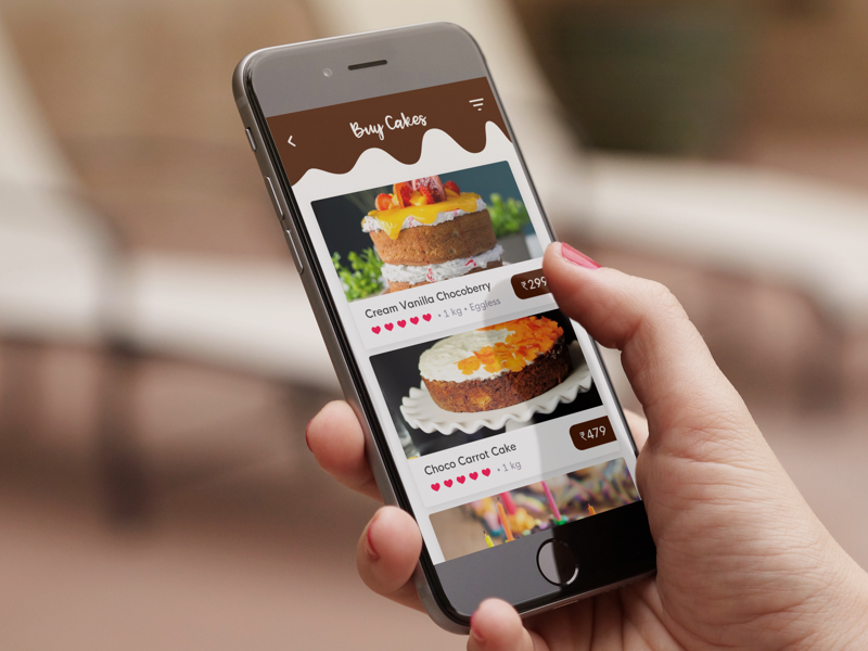 Cakeday - Buy, order, build cakes online interaction ios online order cake design app mobile