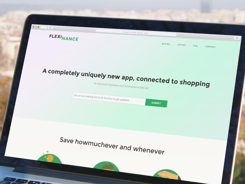 Fintech App Landing Page Website Design ux ui single mobile app finance fintech page landing website