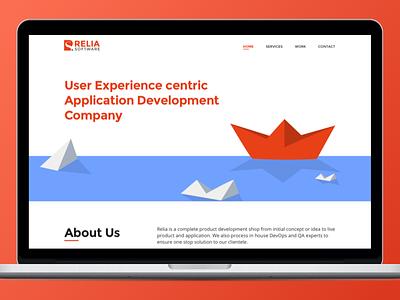Design Agency Website Redesign - Relia Software page home study case portfolio digital agency web design website