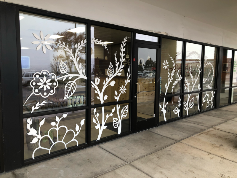 Hand Painted Window Mural window painting mural hand painted
