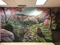 Hand painted custom designed mural